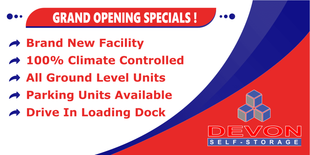 Specials at Devon Self Storage in Cincinnati, Ohio