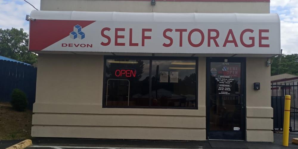 Office exterior at Devon Self Storage in Memphis, TN