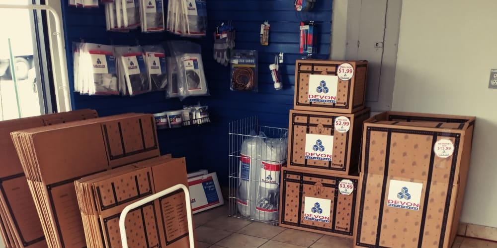 Storage supplies for sale at Devon Self Storage in Memphis, TN