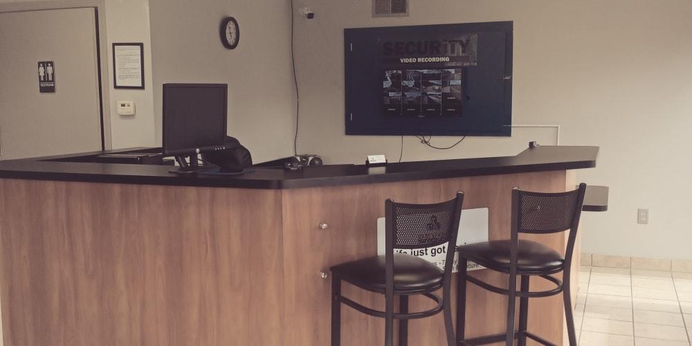 The front desk at Devon Self Storage in Memphis, TN