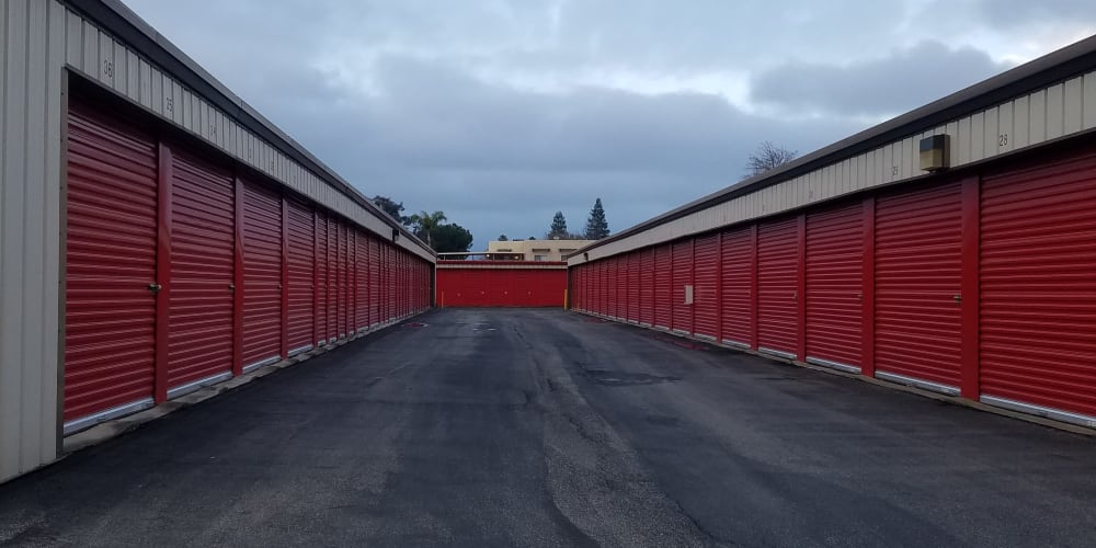 Outdoor units available at StorQuest Self Storage in Bakersfield, California