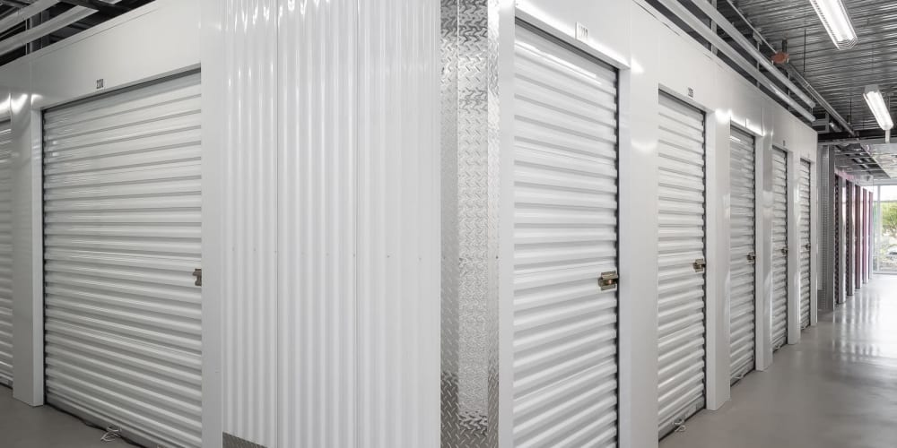 Indoor storage units available at StorQuest Self Storage in Dallas, Texas