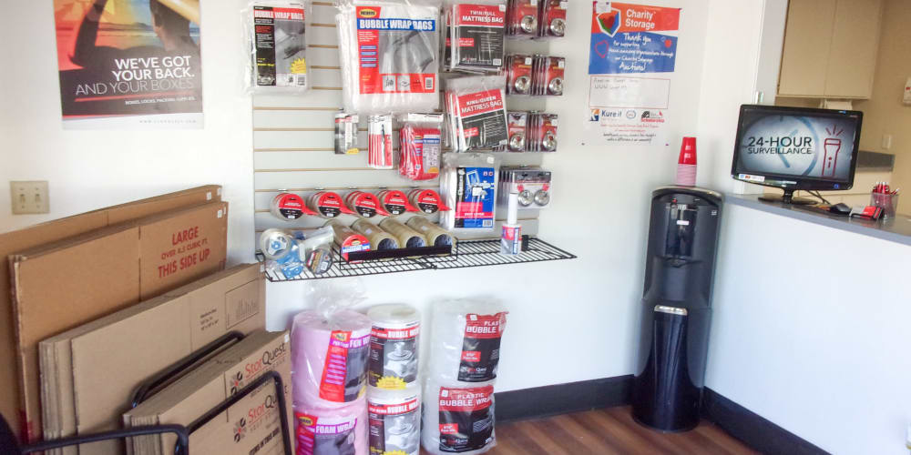 Packing supplies available at StorQuest Self Storage in Los Banos, California