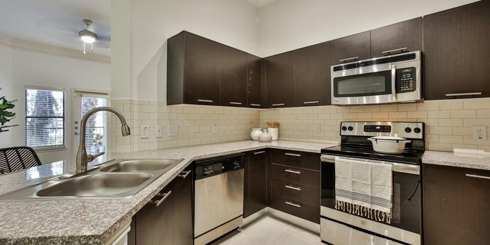 Interior of kitchen at Broadstone Toscano in Houston, Texas