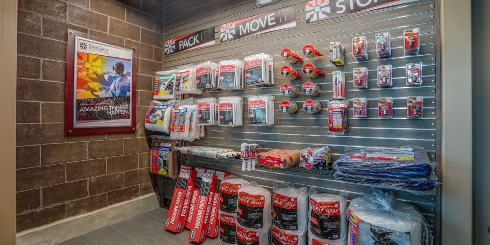 Packing supplies available at StorQuest RV & Boat Storage in Littleton, Colorado
