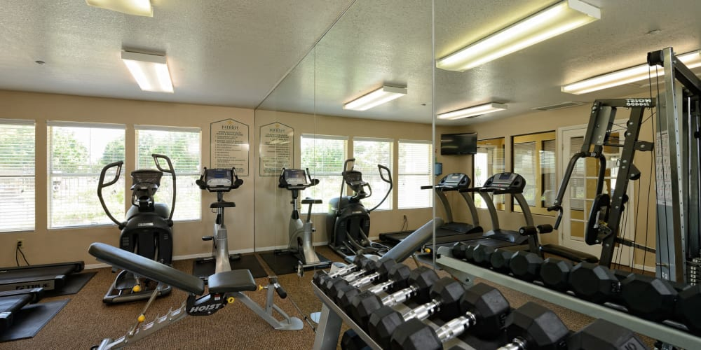 Fitness center for residents at The Patriot Apartments in El Paso, Texas