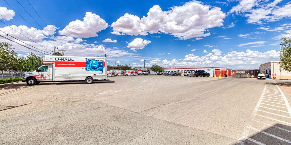 Parking for Armadillo Self Storage in El Paso, Texas