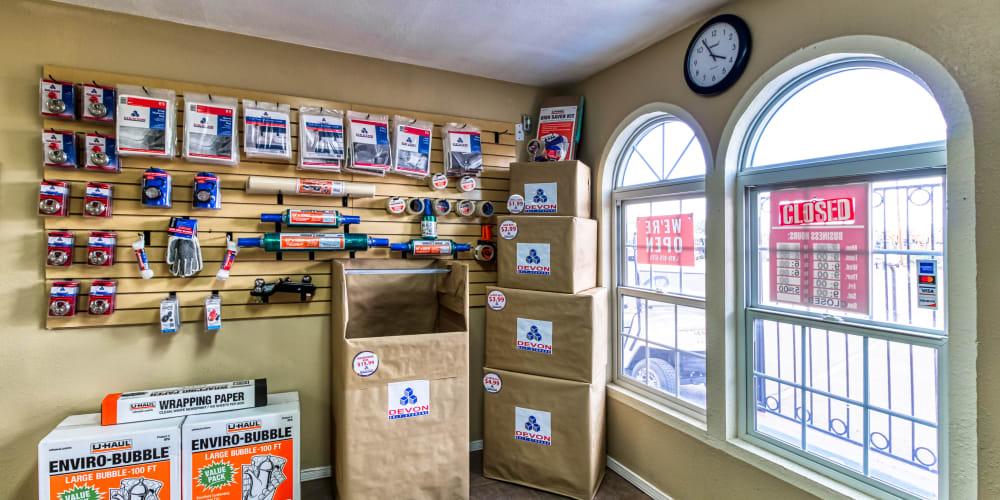 More moving supplies at Armadillo Self Storage in El Paso, Texas