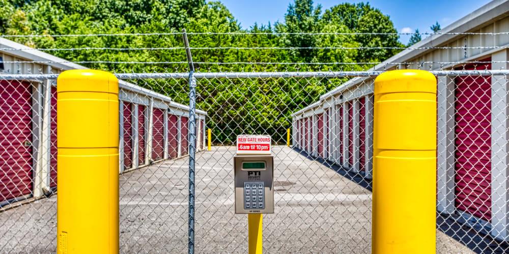 Entry keypad at Secure Storage in Murfreesboro, TN