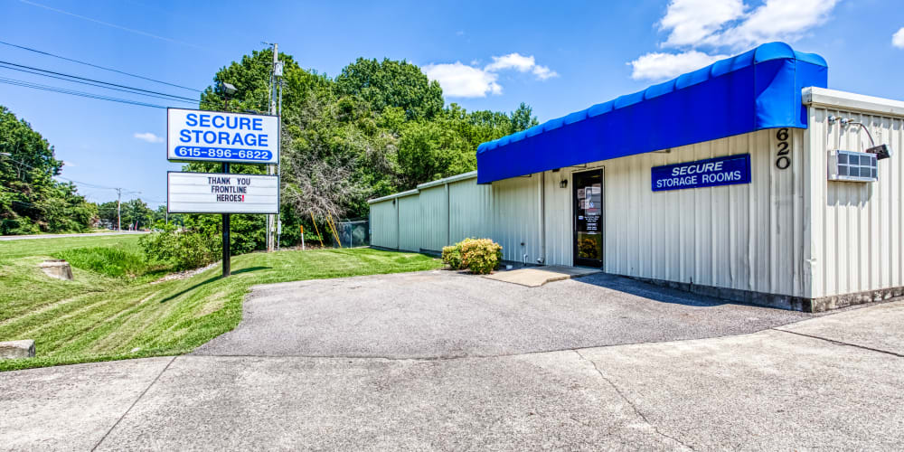Office exterior at Secure Storage in Murfreesboro, TN