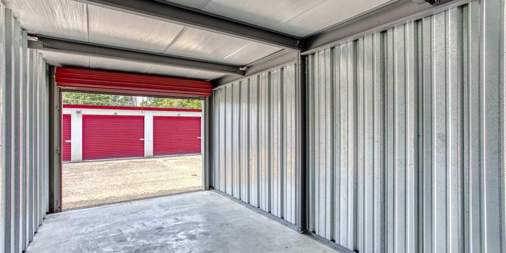 Inside a unit at Secure Storage in Murfreesboro, TN