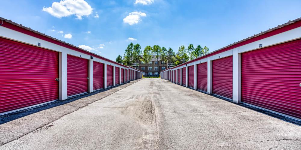 Exterior storage units at Secure Storage in Murfreesboro, TN