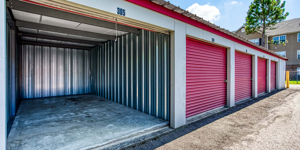 Inside an exterior storage unit at Secure Storage in Murfreesboro, TN