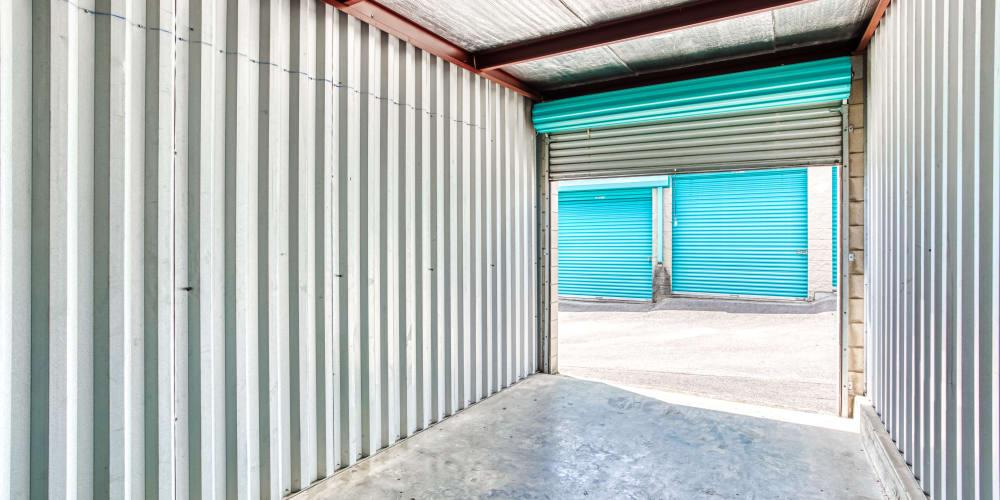 Inside a storage unit at Devon Self Storage in Madison, TN