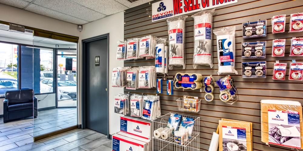 The office supply shop at Devon Self Storage in Madison, TN