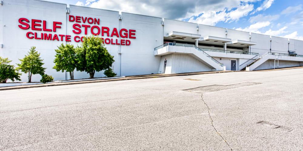 The building exterior at Devon Self Storage in Madison, TN