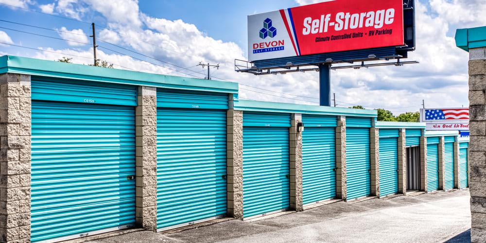 More outdoor storage units at Devon Self Storage in Madison, TN
