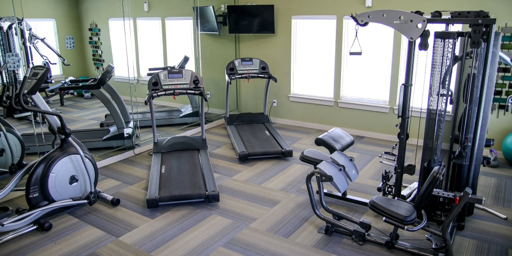 The fitness center at Winchester Apartments in Amarillo, Texas