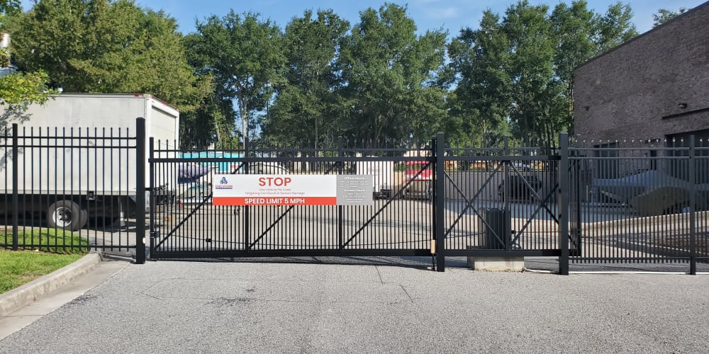 Security gate at Devon Self Storage in Charleston, South Carolina