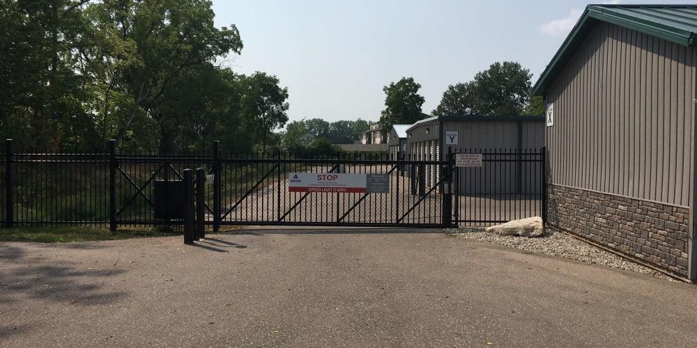 Locking gate access at Devon Self Storage