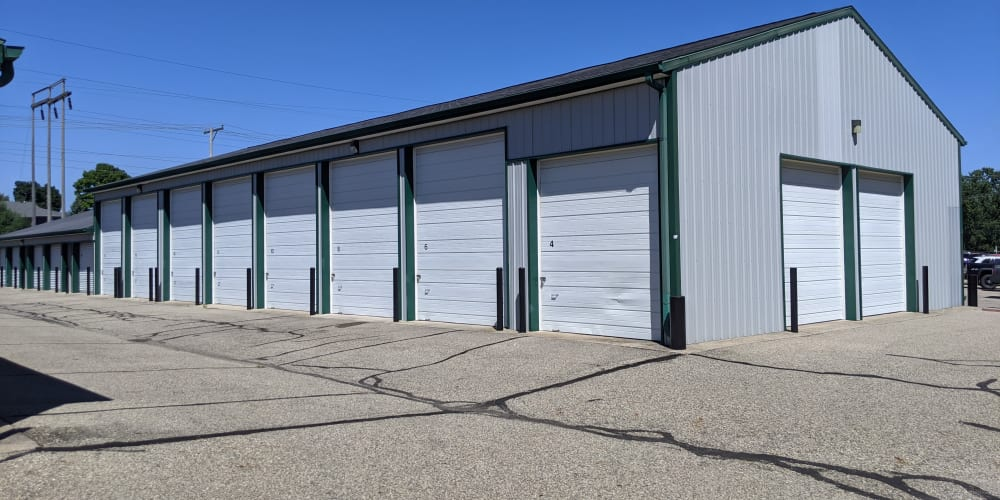 Exterior units at Devon Self Storage in Wyoming, Michigan