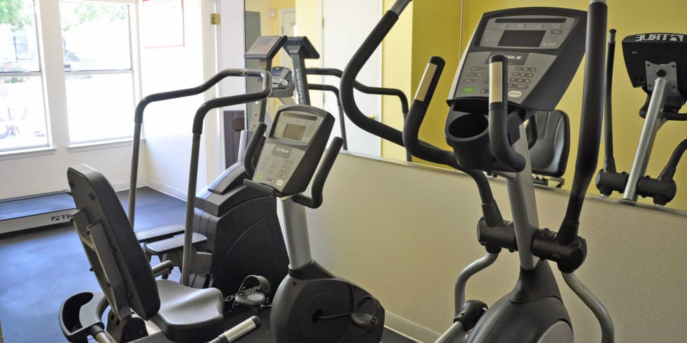 Fitness center for residents at The Phoenix Apartments in El Paso, Texas