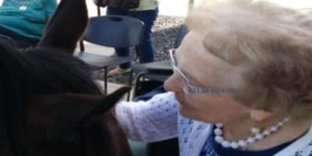 Mary from our Dare to Dream program at Milestone Senior Living in Stoughton, Wisconsin.