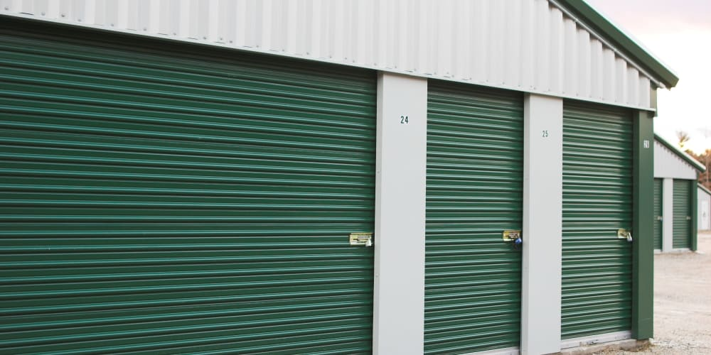 Small and large outdoor units at Devon Self Storage in Athens, Georgia