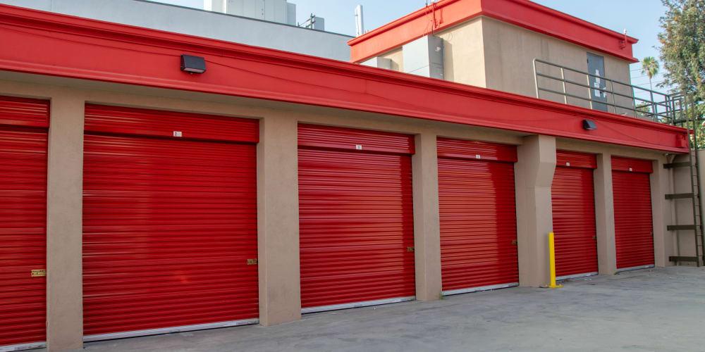 Exterior units at StorQuest Self Storage in Los Angeles, California