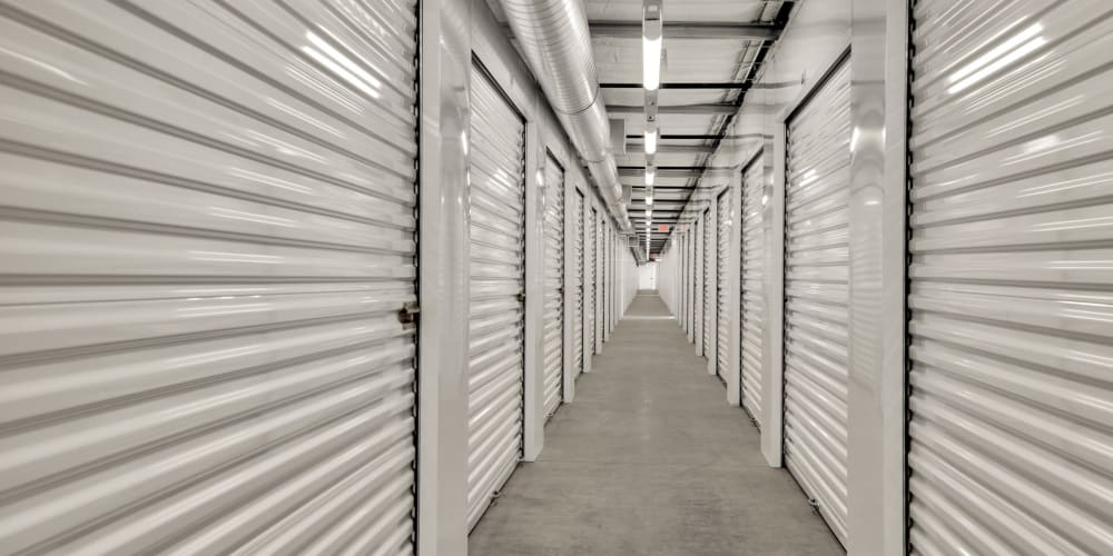 Indoor climate controlled units at StorQuest Self Storage in Cerritos, California