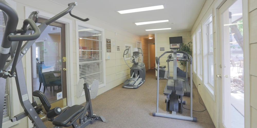 Fitness center for residents at Mountain Village in El Paso, Texas