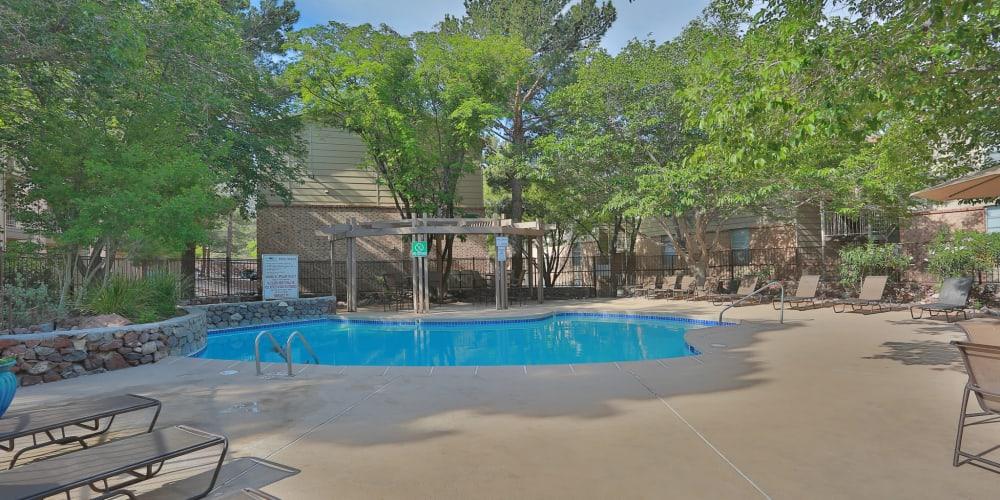 The pool at Mountain Village in El Paso, Texas