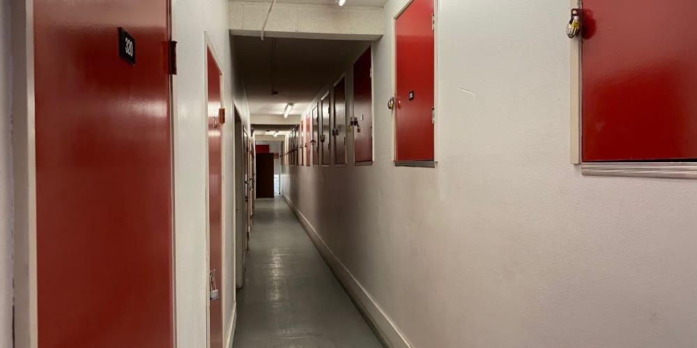 Interior units at StorQuest Self Storage in Los Angeles, California