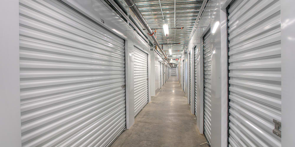Indoor climate controlled units at StorQuest Self Storage in Tarpon Springs, Florida