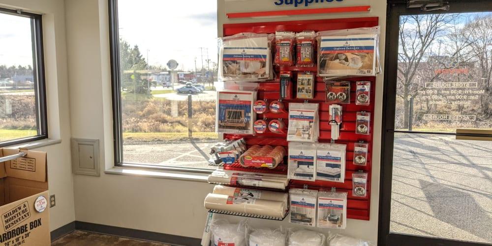 Packing supplies at Devon Self Storage in Wyoming, Michigan