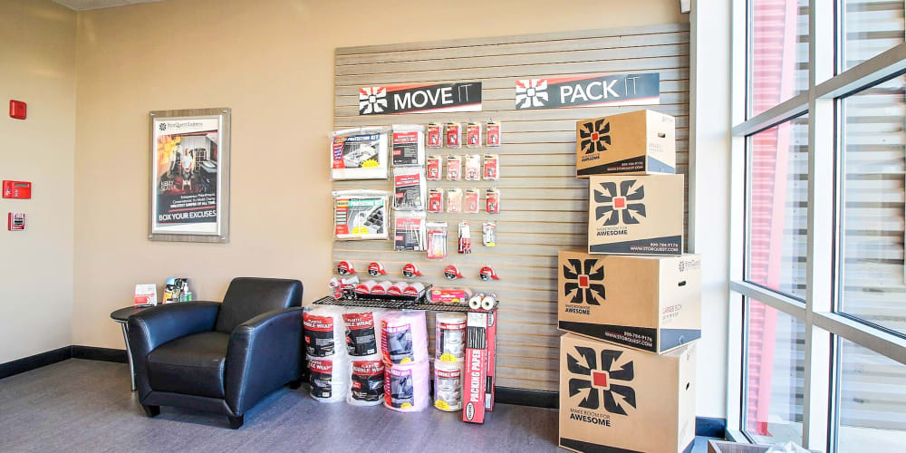 Packing supplies available at StorQuest Express Self Service Storage in Cape Coral, Florida