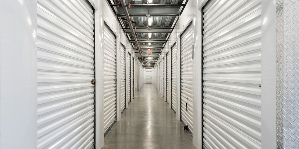 Indoor climate controlled units at StorQuest Self Storage in Vista, California