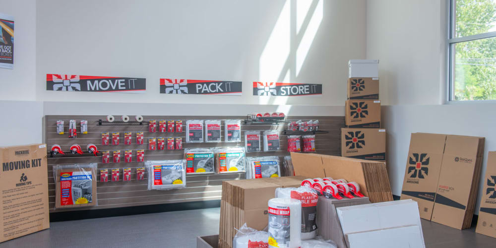 Packing supplies available at StorQuest Self Storage in Tigard, Oregon