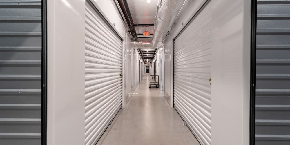 Indoor climate controlled units at StorQuest Express Self Service Storage in Sacramento, California