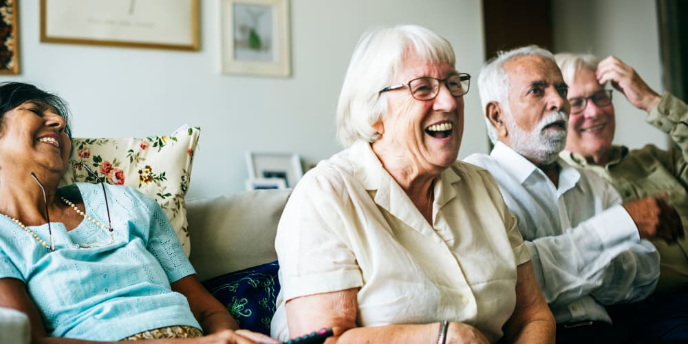 Residents laughing at The Springs Living in McMinnville, Oregon