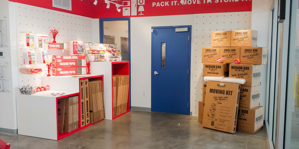 Packing supplies available at StorQuest Self Storage in Miami, Florida