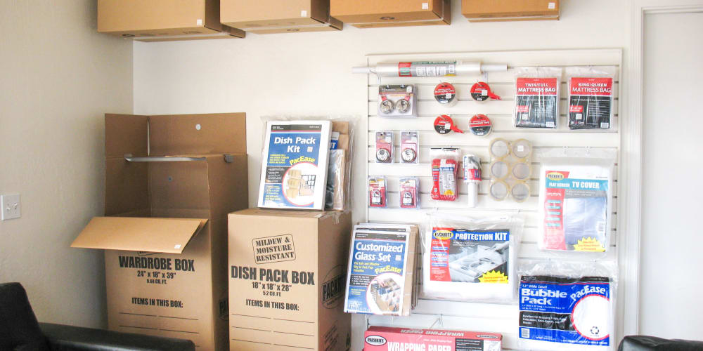 Packing supplies available at StorQuest Self Storage in Apache Junction, Arizona