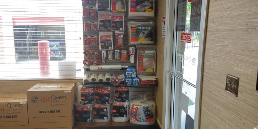 Packing supplies available at StorQuest Self Storage in Gainesville, Florida