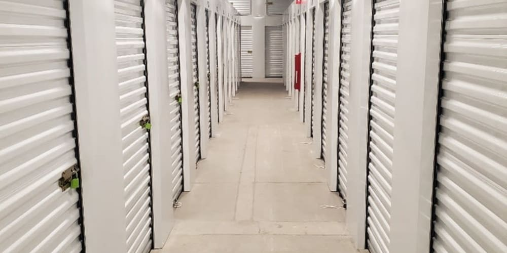 Hallway with units at Devon Self Storage