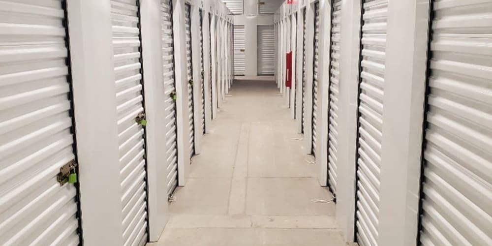 Hallway with units at Devon Self Storage