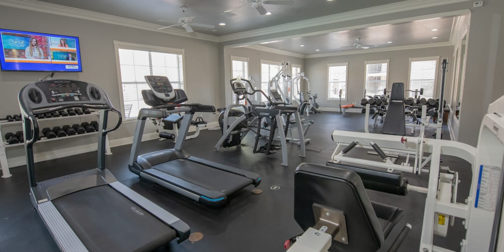The fitness center at Lexington Park Apartment Homes in North Little Rock, Arkansas
