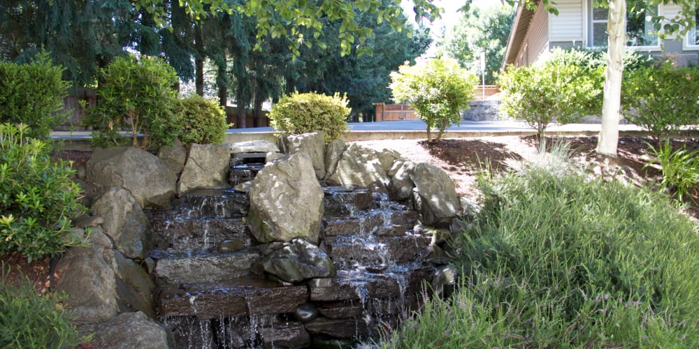 Waterfountain outside facility at The Springs at Wilsonville in Wilsonville, Oregon