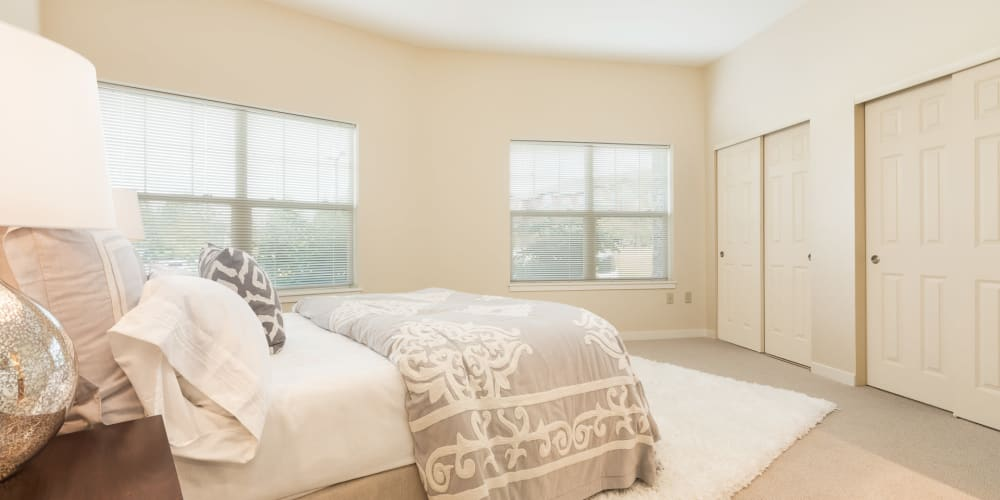 Beautifully furnished bedroom at The Springs at Tanasbourne in Hillsboro, Oregon