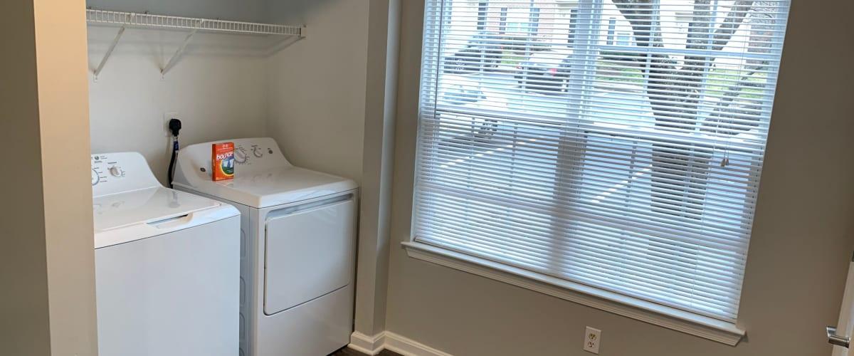 A laundry room at Timber Ridge in Fredericksburg, Virginia