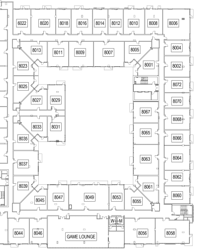 The Local Apartments level 8 site plan